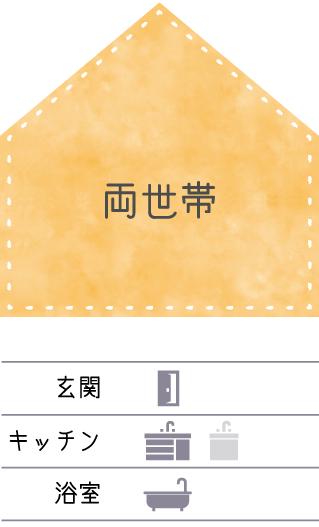 金沢の二世帯住宅パターン1