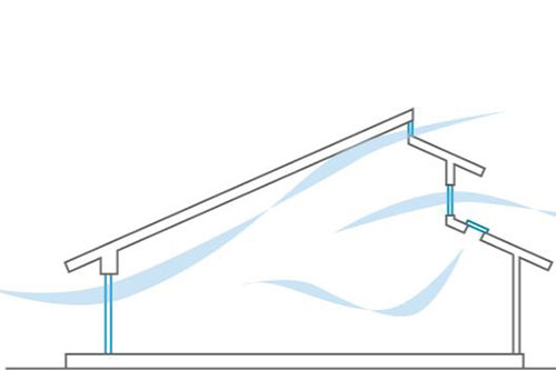 金沢の自由設計住宅の通風設計