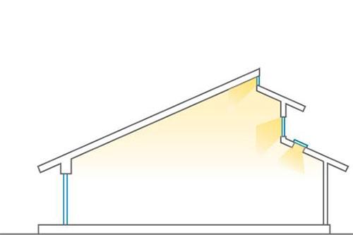 金沢の自由設計住宅の昼光利用設計